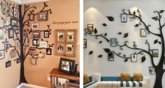 Gallerie di foto a forma di albero: 8 modelli super-creativi da cui trarre spunto