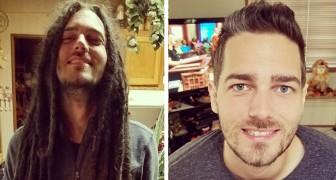 16 hommes ont coupé leurs longs cheveux et montrent fièrement leur transformation