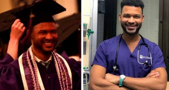 """Dieser junge Mann hat an derselben Uni seinen Abschluss gemacht, in der er vor langer Zeit putzte: """"Ich habe mich nie ergeben"""""""