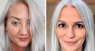 17 donne che hanno deciso di abbandonare la tinta e di sfoggiare i capelli bianchi