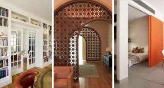 9 idées toutes plus belles les unes que les autres pour insérer des murs et des éléments diviseurs dans l'ameublement de la maison