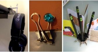 11 trovate brillanti per riciclare le clip di documenti trasformandole in oggetti utili