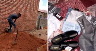Lavora come muratore per potersi pagare il materiale scolastico: non vuole dipendere dai suoi genitori