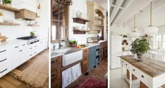 10 spunti irresistibili per arredare la cucina in perfetto stile farmhouse