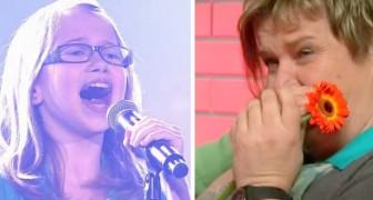 Una niña sube al escenario y a mitad de la cancion el publico esta ya en PIE APLAUDIENDO!