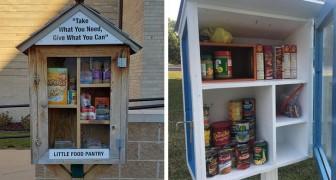 Ze verandert boekenkasten in kleine dispensers om de meest behoeftigen te helpen met een concrete maatregel