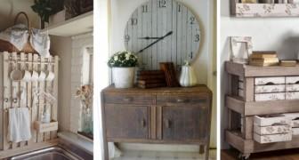 11 idées charmantes pour réaliser de fantastiques meubles shabby-chic en recyclant les palettes