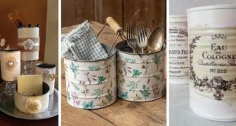 Ricicla le confezioni di latta trasformandole in decorazioni shabby-chic: 10 idee adorabili