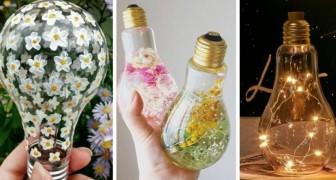 Ne jetez pas vos ampoules grillées : 10 propositions pour les transformer en superbes décorations