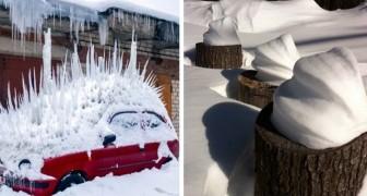 16 keer wanneer ijs en sneeuw fascinerende en voldoening gevende kunstwerken hebben gecreëerd