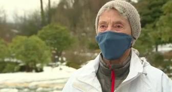 À 90 ans, elle marche 10 km dans la neige pour recevoir le vaccin anti-Covid : J'étais impatiente de l'avoir !