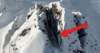 Ski extreme sport: de meest angstaanjagende vrije val ooit