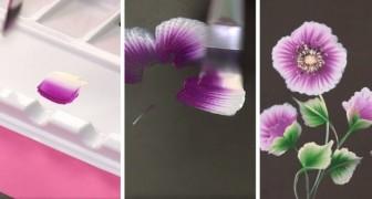 Dipingere fiori con una sola pennellata: il tutorial facile per creare quadretti strepitosi