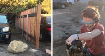 I vicini le bloccano l'auto con un grande masso: la geologa si vendica per dare loro una lezione