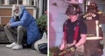 Obdachloser rettet Großmutter und Enkelinnen vor den Flammen, indem er ihre Freundlichkeit zurückzahlt: Sie hatten ihn zum Schlafen in ihrem Haus beherbergt