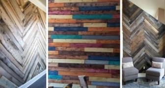 Create una parete spettacolare con i pallet: i migliori spunti fai-da-te per rivestire un muro di casa