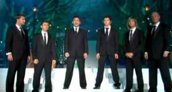 6 uomini in perfetta armonia regalano al pubblico un'esibizione indimenticabile