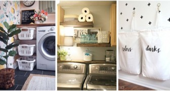 Créez une laverie complète avec peu de place : 11 astuces fantastiques dont vous inspirer