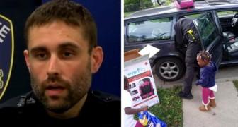 Non ha i soldi per comprare i seggiolini dell'auto ai figli: un poliziotto decide di regalarglieli anziché multarla