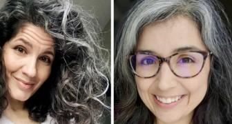 Es lebe das graue Haar: 17 Frauen, die beschlossen haben, nicht auf Färbemittel zurückzugreifen und ihre natürliche Farbe zur Schau zu tragen