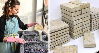 Une étudiante crée des briques à partir de déchets textiles : elles sont d'excellents isolants thermiques et acoustiques