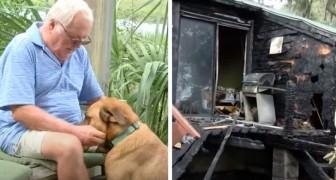 La casa prende fuoco di notte, ma il cane sveglia il padrone: hanno perso tutto, ma sono salvi