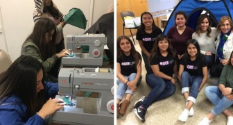 12 ragazze senza alcuna esperienza hanno realizzato una tenda ad energia solare per aiutare i senzatetto
