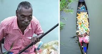 Dieser gelähmte Mann säubert jeden Tag Flüsse von Plastik: Ein Foto hat sein Leben verändert