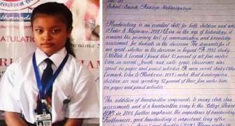 L'écriture de cette fille a été élue la meilleure du monde : on dirait qu'elle sort d'un ordinateur