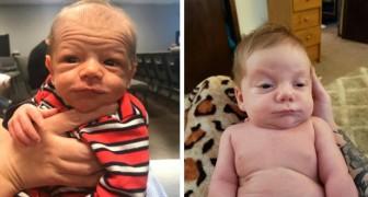 15 neonati che con il loro aspetto buffo potrebbero essere scambiati per piccoli nonni