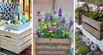 Arreda il giardino o il balcone con le cassette di legno: le idee più creative ed economiche