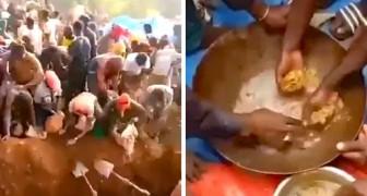 Découverte au Congo d'une véritable montagne d'or : les gens affluent avec pelles et pioches pour l'extraire
