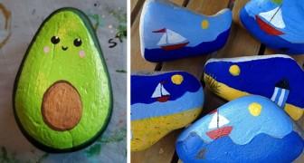 Dai sfogo alla tua creatività trasformando semplici sassi in piccoli capolavori