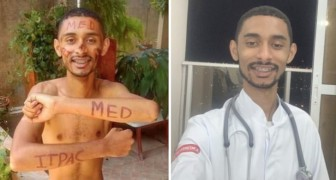 At 15 he loses his father and works in low paid jobs to be able to pay for his studies himself: now, he is a model student in medicine