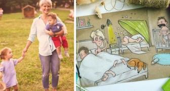 Questa mamma spiega le gioie e i dolori dell'essere genitore attraverso delle ironiche vignette