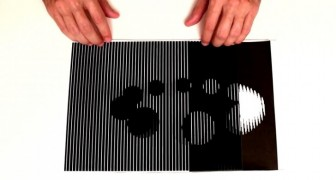 By only using two sheets of paper, a man shows you 6 amazing optical illusions !