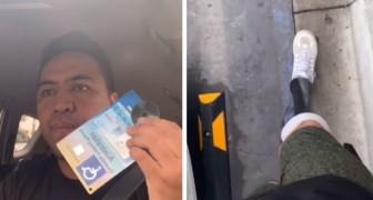 Un uomo senza gamba viene rimproverato per aver parcheggiato nel posto per disabili: il frustrante sfogo