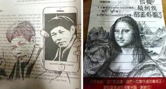 Wenn das Doodle zur Kunst wird: 18 Seiten auf die genialste und witzigste Art vandalisiert