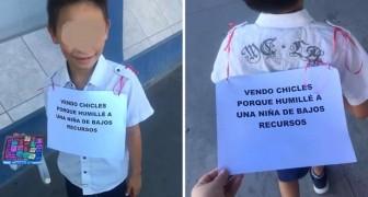 Ele zomba de uma pobre garota: sua tia o obriga a ser vendedor de rua por algumas horas