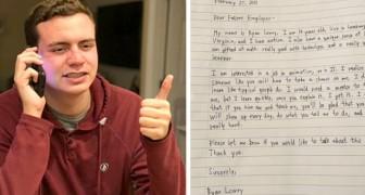 Datemi una possibilità: ragazzo autistico cerca lavoro con una commovente lettera scritta a mano