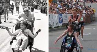 På 40 år har han sprungit fler än 1000 maratonlopp med sin handikappade son för att göra honom lycklig
