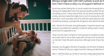 I papà single non ricevono lo stesso supporto delle mamme single: un uomo stanco si chiede il perché