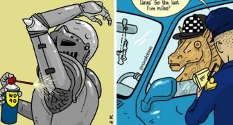 Un fumettista e illustratore crea lavori in grado di catapultarci in un mondo bizzarro dove tutto è possibile
