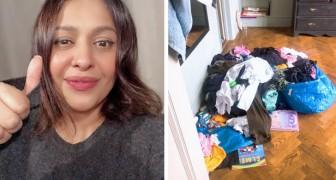 Madre di famiglia smette di fare le faccende di casa per vedere quanto dureranno il marito e i figli senza di lei