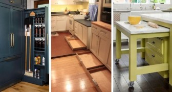 Sfrutta al massimo lo spazio della tua cucina con soluzioni ingegnose come queste