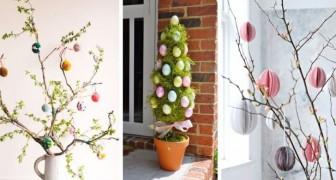 Porta in casa la magia degli alberi di Pasqua con queste splendide composizioni di rami