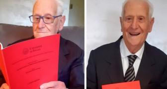 88 år gammal tar han sin 13:e examen och har inga intentioner att sluta - nu siktar han på nästa titel