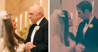 Ett par återskapar sina bröllopsfoton för att fira att de varit gifta i 50 år - de älskar varandra som om det vore den första dagen