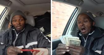 Um morador de rua chora de alegria quando descobre que $ 17.000 foram arrecadados para oferecer a ele um teto sobre a sua cabeça