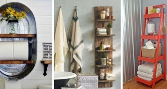 Fai ordine nel tuo bagno senza rinunciare al design aggiungendo comodi scaffali fai-da-te